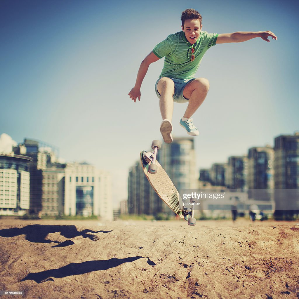 Happy Skateborder : Stock Photo