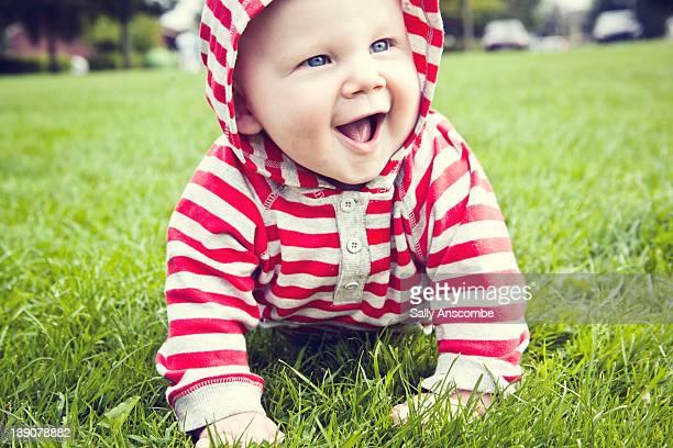 Happy smiling baby boy
