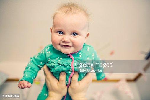 Happy smiling baby girl