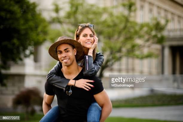 Happy smiling couple.