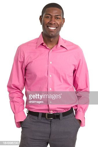 Happy Smiling Man Standing Portrait