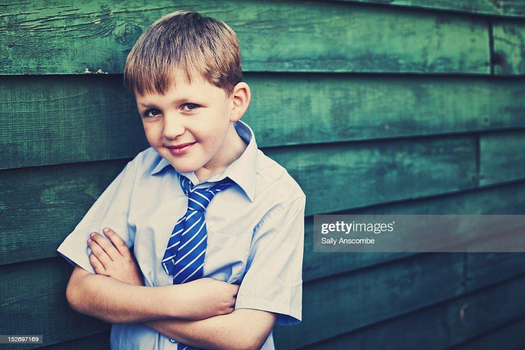 Happy smiling school boy : Stock Photo