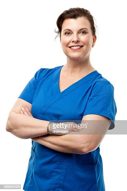 Happy Smiling Woman In Scrubs