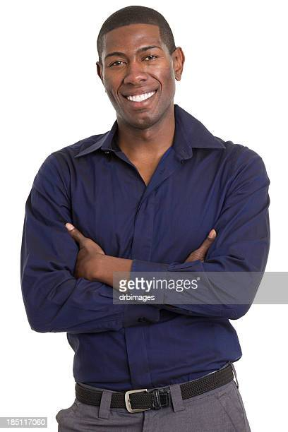 Happy Smiling Young Man With Arms Crossed