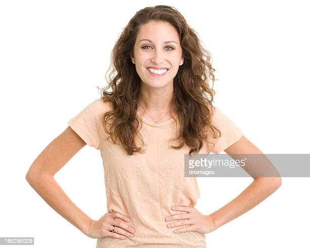 Happy Smiling Young Woman Posing