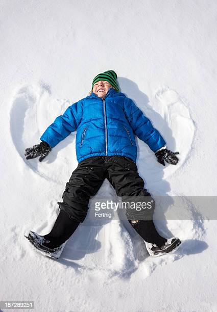 Happy snow angel