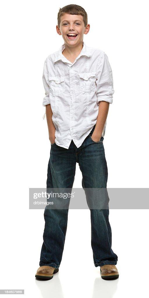 Happy Standing Boy