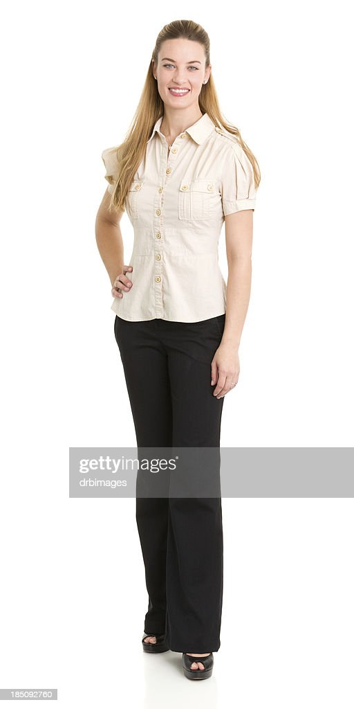 Happy Standing Woman Portrait