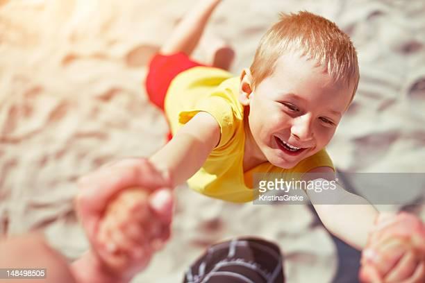 Heureux été sur la plage