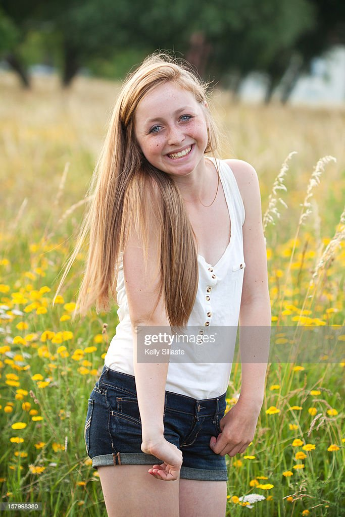 Happy Summer Teen Stock Photo