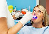 Happy Teenage Girl at dentist office