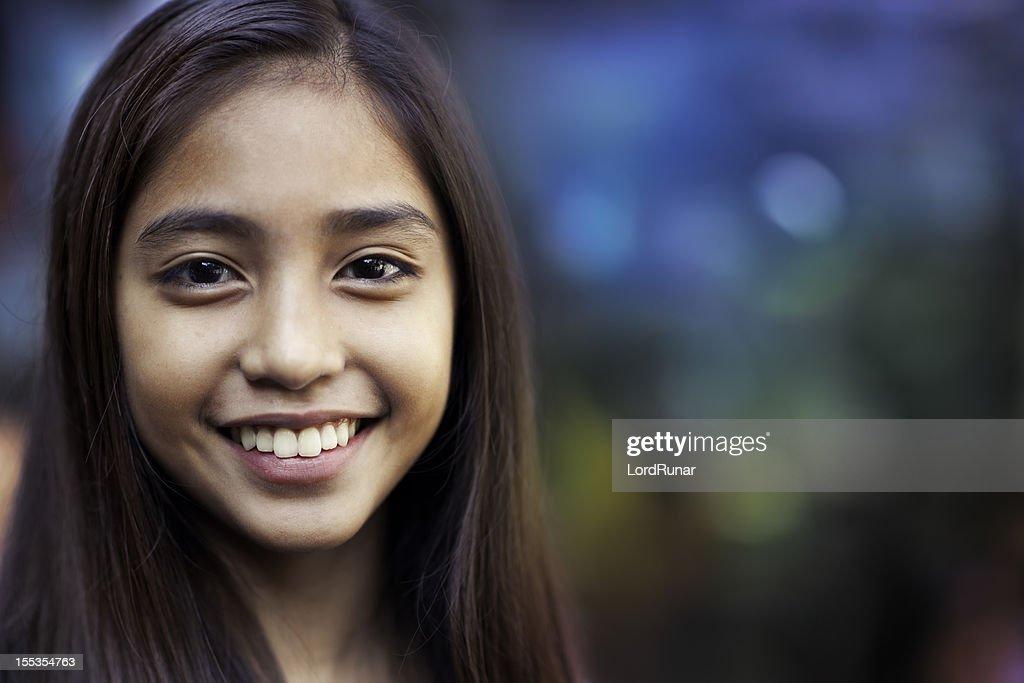 Glücklich Teenager-Mädchen : Stock-Foto
