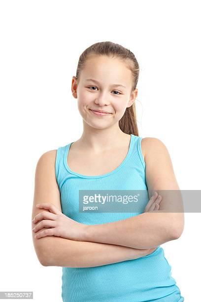 happy teenager girl