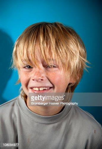 Happy Ten Year Old Boy : Stock Photo