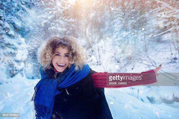 happy time in winter day