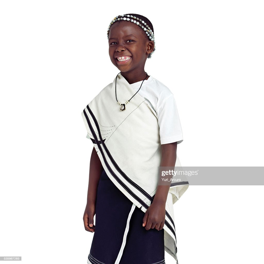 Happy to be a child of Africa : Stock Photo