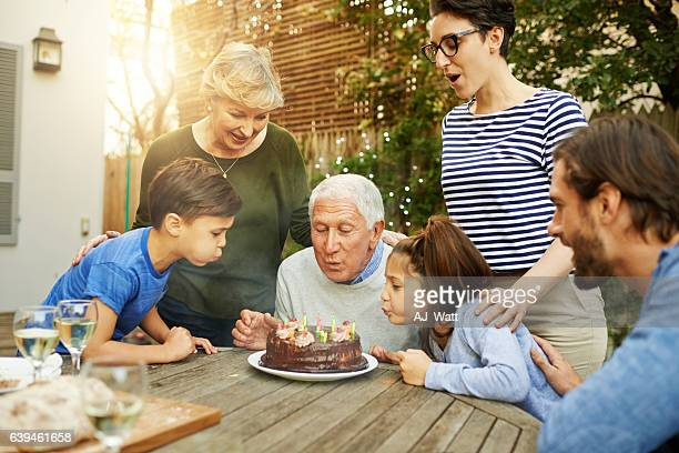Happy to help grandpa with the candles