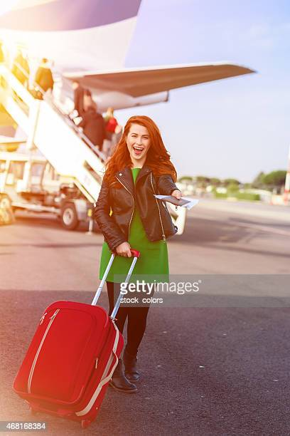 happy to travel with airplane
