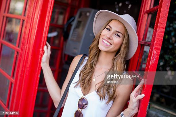 Happy tourist in London