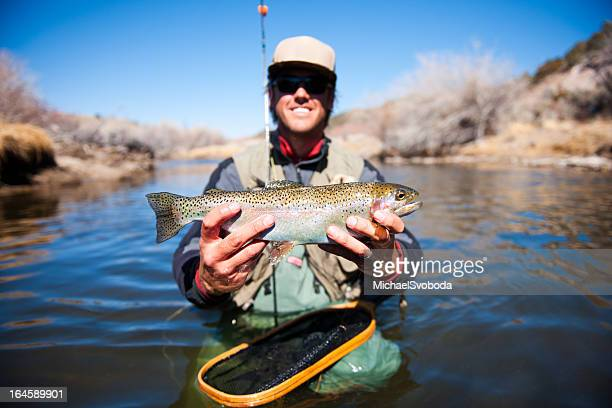 Happy Forelle Fisherman