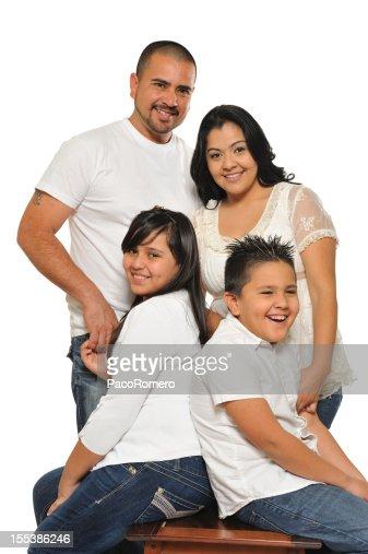 Familia Latina Fondo Blanco Fotografías e imágenes de ...