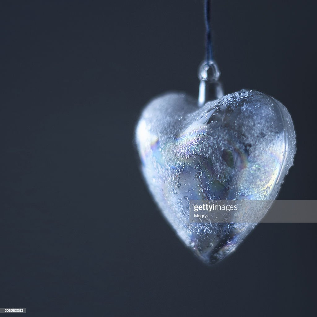Happy Valentines Day Card Design. Frozen heart : Stock Photo