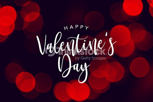 Happy Valentines Day Celebration Text Over Red Duotone Lights