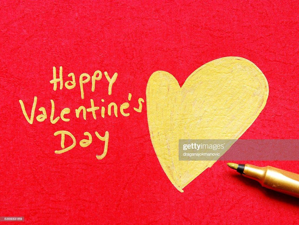 happy valentines day note : Stock Photo