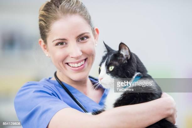 Glücklich Tierarzt