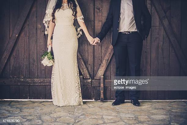 Feliz Casal de Casamento