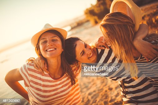Happy with my girlfriends