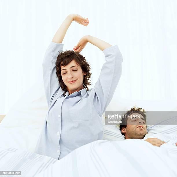 happy woman after a good night's sleep