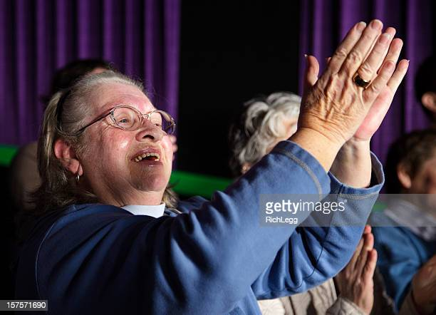 Happy Woman Clapping