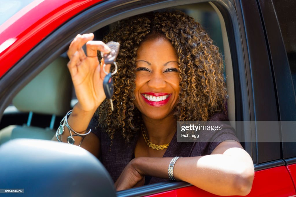 Happy Woman Driver : Stock Photo