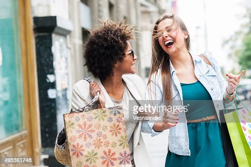 Happy woman in shopping