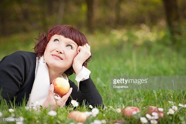 Happy Woman in Wonderful Spring Nature
