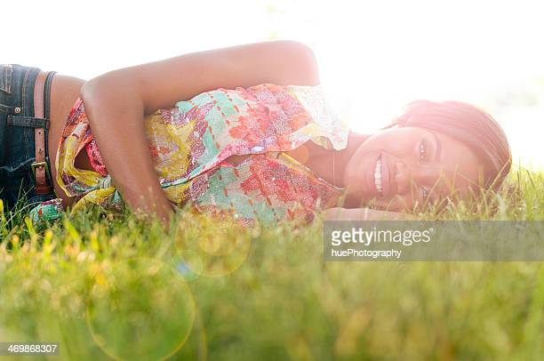Happy Woman on Summer Day