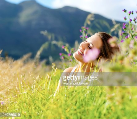 happy woman outdoor : Stock Photo