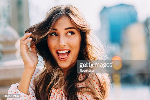 Happy woman : Stockfoto