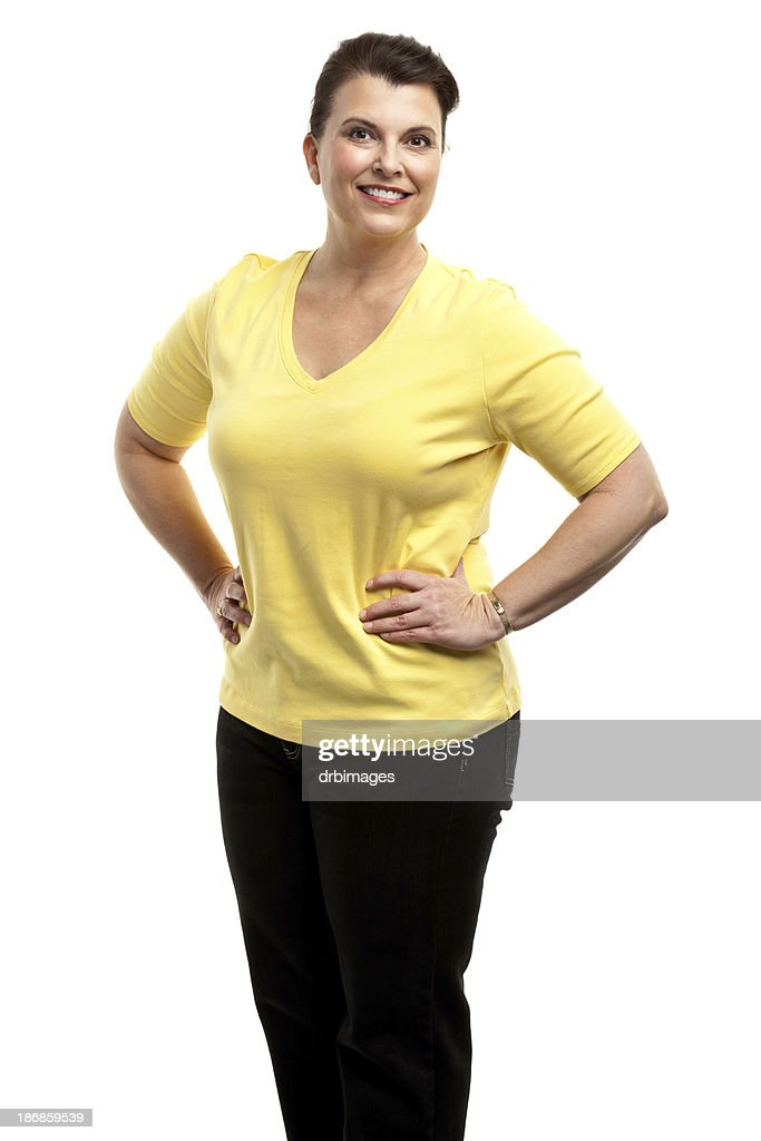 Happy Woman Posing With Hands on Hips