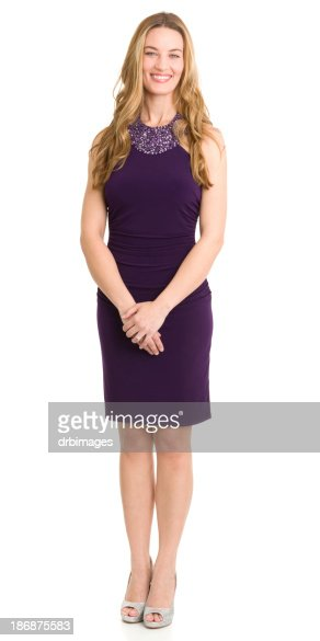 Happy Woman Standing and Smiling