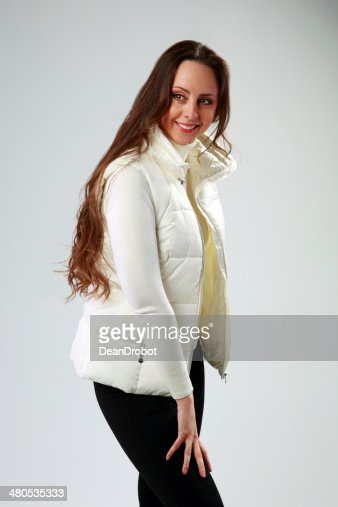 Happy woman standing : Stock Photo