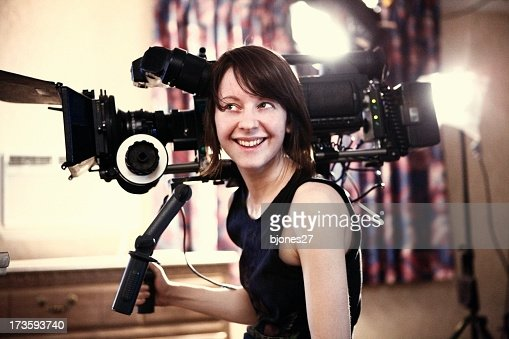 Happy Woman with Camera