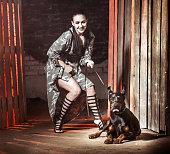 Happy Woman With Dog Friend