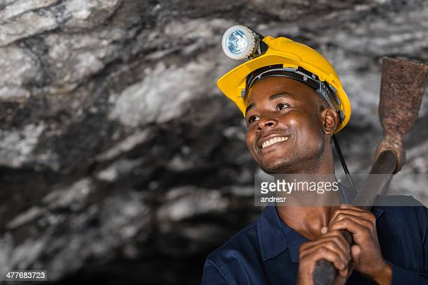 Happy worker at a mine