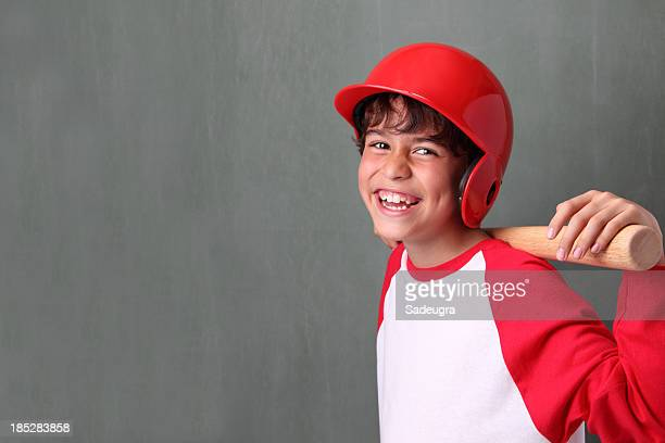 Happy Young Baseball Player