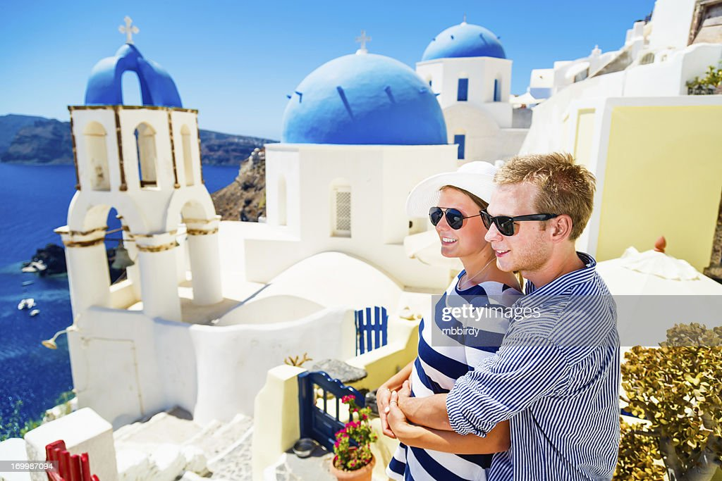 Image result for couple in Santorini, Greece