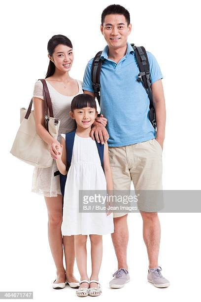 Happy young family on vacation