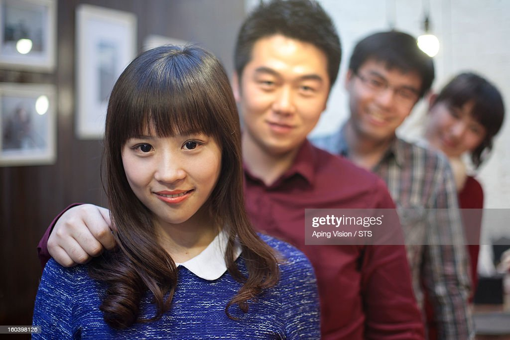 Happy young friends : Stock Photo