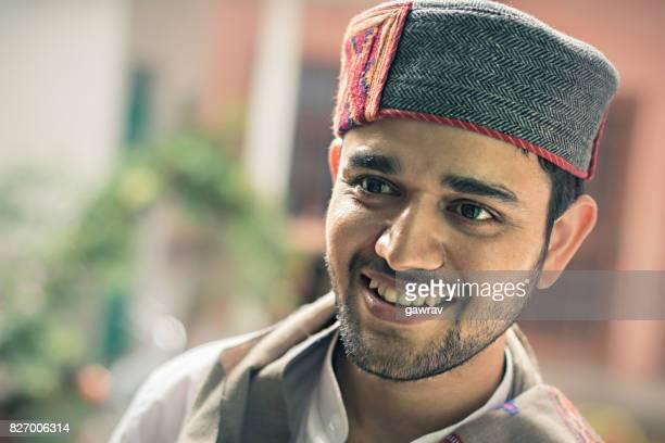 Happy young man, Himachal Pradesh, India.